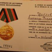 1978-02-22. Разворот удостоверения к медали «20 лет FAR».