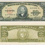 20 песо 1960 года с подписью Че Гевары