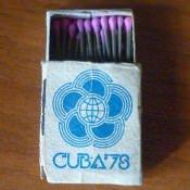 Кубинские спички с эмблемой Фестиваля