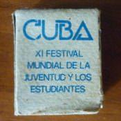 168. Кубинские спички с эмблемой Фестиваля