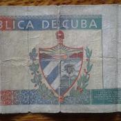 407. Купюра номиналом в 1 песо 90-х годов. Оборот.