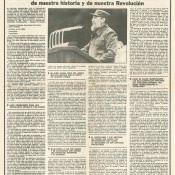 1989-12-08. Газета «Гранма». Специальный выпуск с о прошедшем накануне дне прощания с воинами-интернационалистами (Operación TributoTributo - Операция долга памяти.). Лист 3.