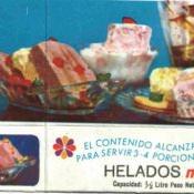 Этикетка от мороженого