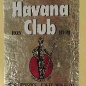 Этикетка от бутылки рома  «Habana Club», 1979