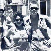 1990 -02 Плае в Гуанимаре, на фото повар Андрей.