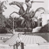 1986-1987. Vedado памятник Дон Кихоту.
