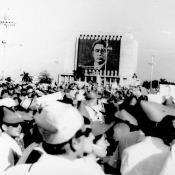 Праздничный митинг в Гаване. Приезд Л.И. Брежнева в 1973 году.