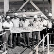 303. 1983-12-ХХ. Работники треста ЮВМА на комбинате.
