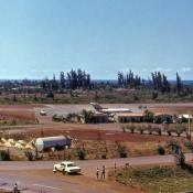 1980-1984. Вид с балкона роло 6 на аэропорт Моа
