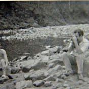 1985-1986. На реке Кайо Гуан.
