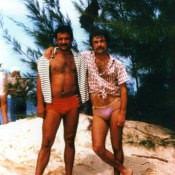 1983-1985. Партнеры по подводной охоте.