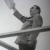 1973. Леонид Ильич Брежнев. Встреча с Фиделем Кастро. Площадь Независимости.