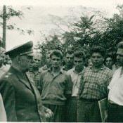 Приезд маршала Крылова Николая Ивановича, январь 1963