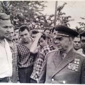 035. Приезд маршала Крылова Николая Ивановича, январь-февраль 1963