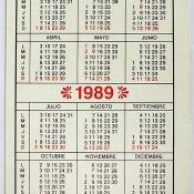 149. 1989. Календарь. Оборот.
