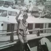 021. Я на фоне катера Фиделя