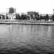 1969-07-20. На набережной Гаваны кубинцы встречают советские военные корабли