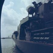 110. БПК «Азов», фото с борта гв. эск. миноносца «Гремящий»