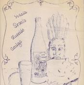 075. 1987. Заводская шуточная грамота. Иллюстрация.