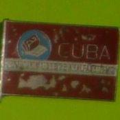 Куба - территория свободная от неграмотности. Значок времён Национальной кампании по ликвидации неграмотности.