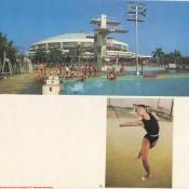 124. Ciudad Deportiva en La Habana. 125. Gimnasta.
