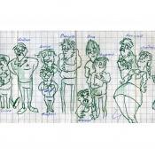 1987. Карикатура Шевченко Антона на 8 «А».