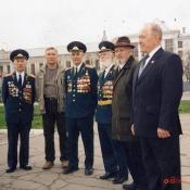 Вологда, 9 мая, рядом с А.Ф. Багаевым, слева, стоит его сын Валерий Александрович Багаев