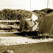 Палаточный городок для офицеров с женами в поселке Лимонар