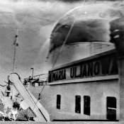 Февраль 1964. Порт Рига. Теплоход «Мария Ульянова».