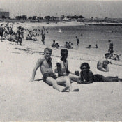 Пляж в районе крепости Эль-Морро, Гавана, 1963 г.