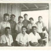 Шарапов Виктор Фролович (во 2-м ряду 1-й слева), с советскими и кубинскими коллегами. Республика Куба. 1961 г.