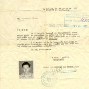 Паспорт заграничный № 223580 Шарапова Виктора Фроловича для пребывания в Республике Куба