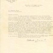 Письмо Попову Геннадию Александровичу от Хуана Лапласе Ауседа и Эстер Перес Эрнандес, коллег по работе, 17 января 1965 г.