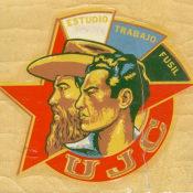 Наклейка «UJC» («Союз молодых коммунистов») . 1961-1962 гг. Республика Куба.