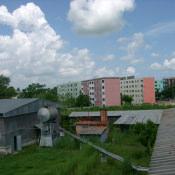 Вид с крыши старого ТЗ на дизельную