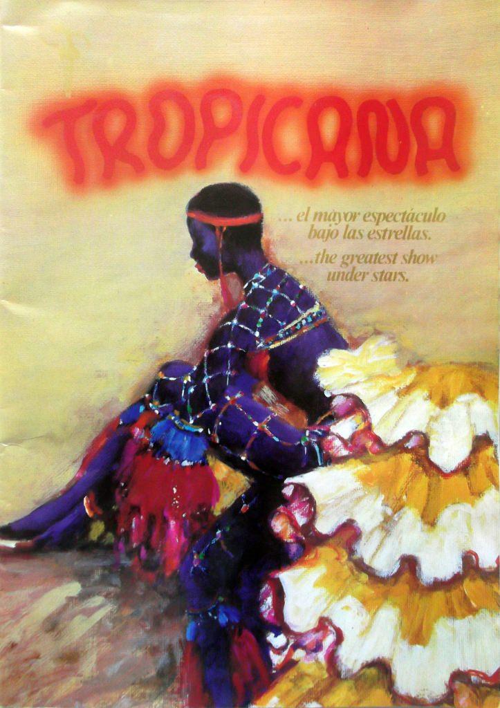 Рекламный журнал кабаре «Тропикана». 80-е годы. Обложка