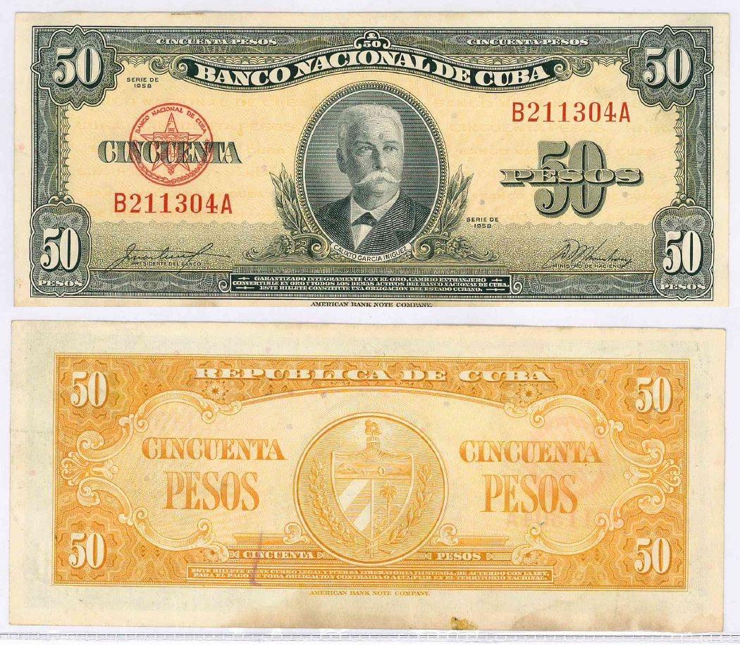 389. 50 песо 1958 года