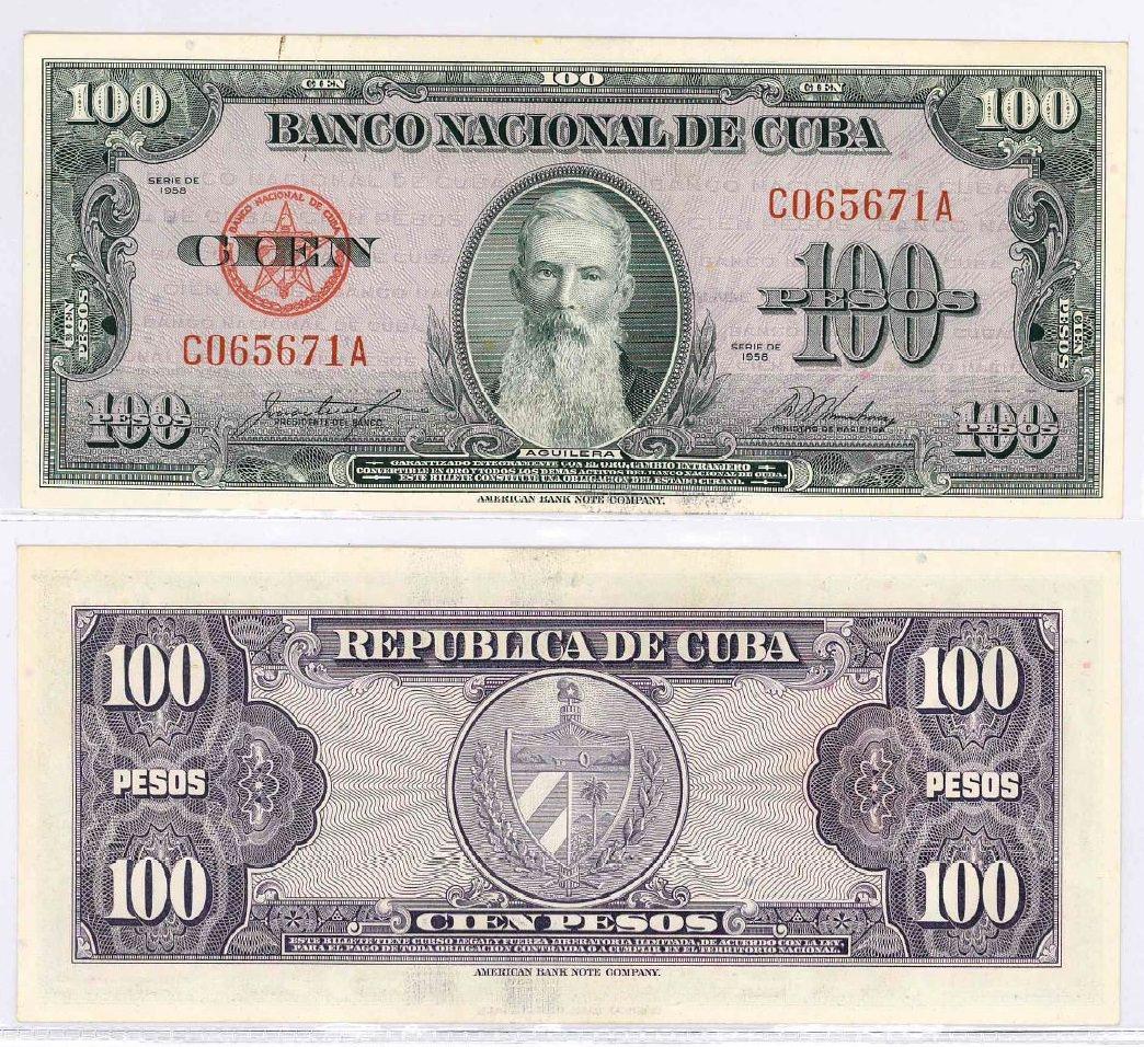 390. 100 песо 1958 года