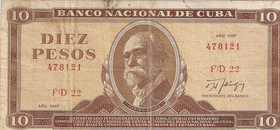 404. 1987. Купюра номиналом в 10 песо. Титул.