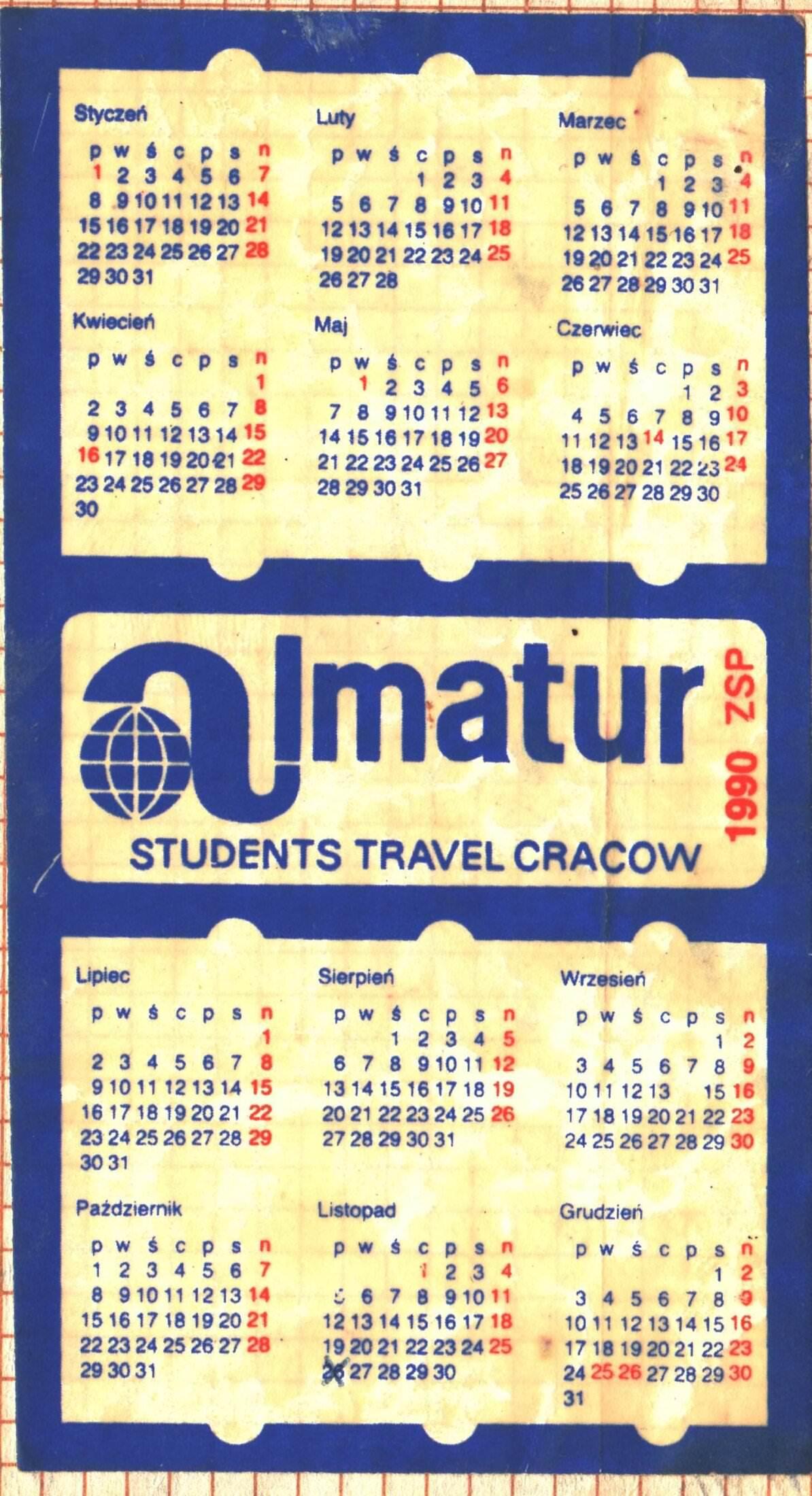 1990. Календарь
