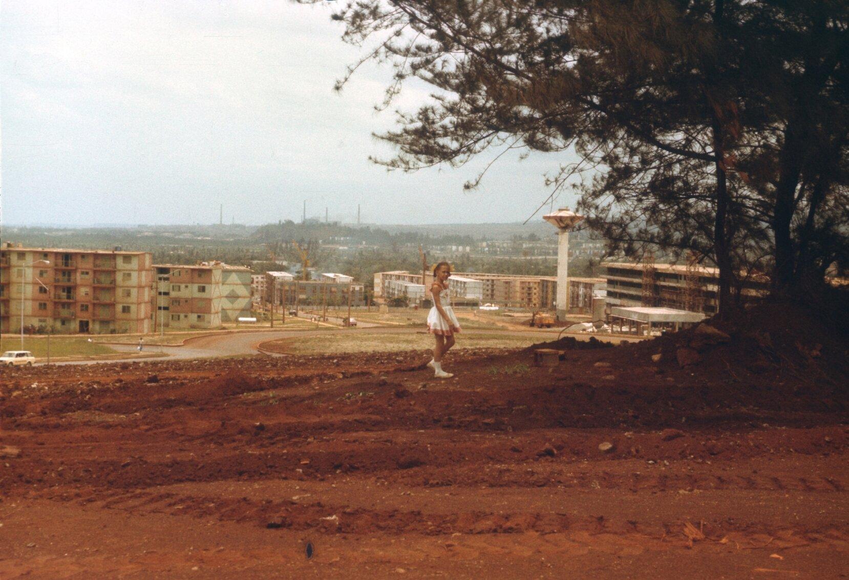 1985-1988. Вид сверху, от университета