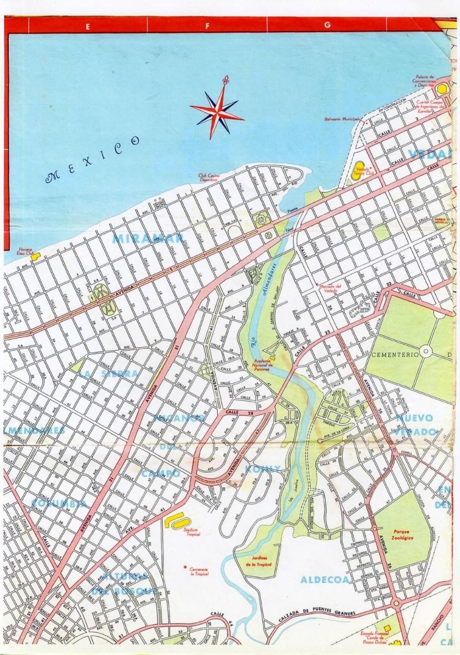 498. 1956. Карта Кубы и Гаваны. 1 лист, 2 фрагмент