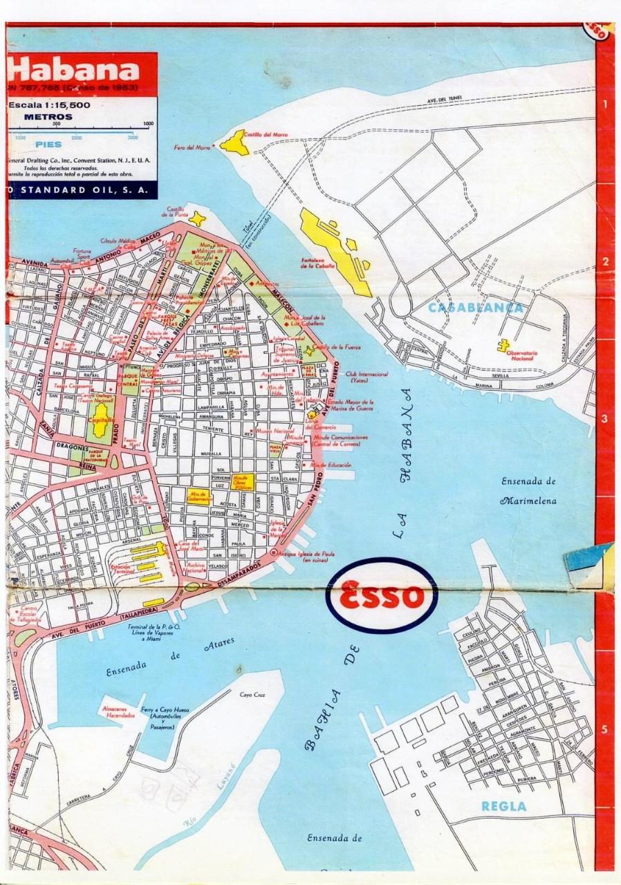 500. 1956. Карта Кубы и Гаваны. 1 лист, 4 фрагмент
