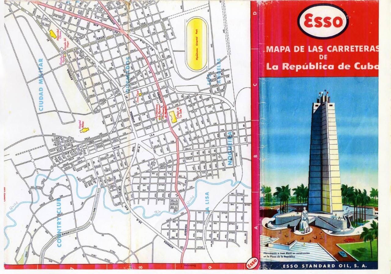501. 1956. Карта Кубы и Гаваны. 1 лист, 5 фрагмент