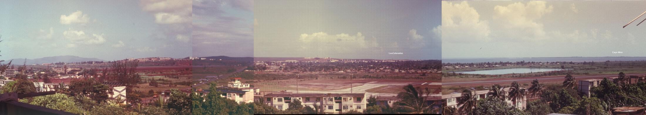 Обзорная панорама на Моа. Вид с балкона 4-го этажа 3-го Роло. 1987