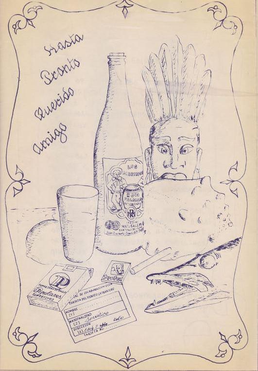 1987. Заводская шуточная грамота. Иллюстрация.