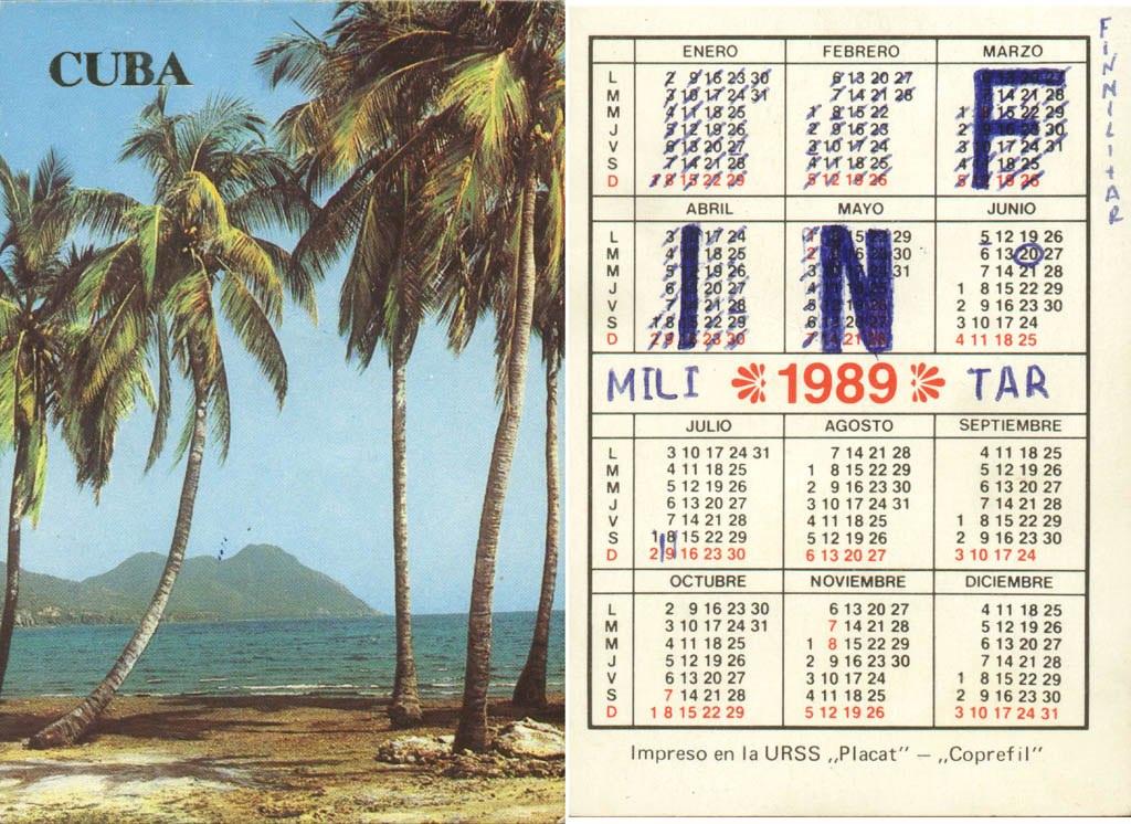 Календарь с зачеркнутыми днями