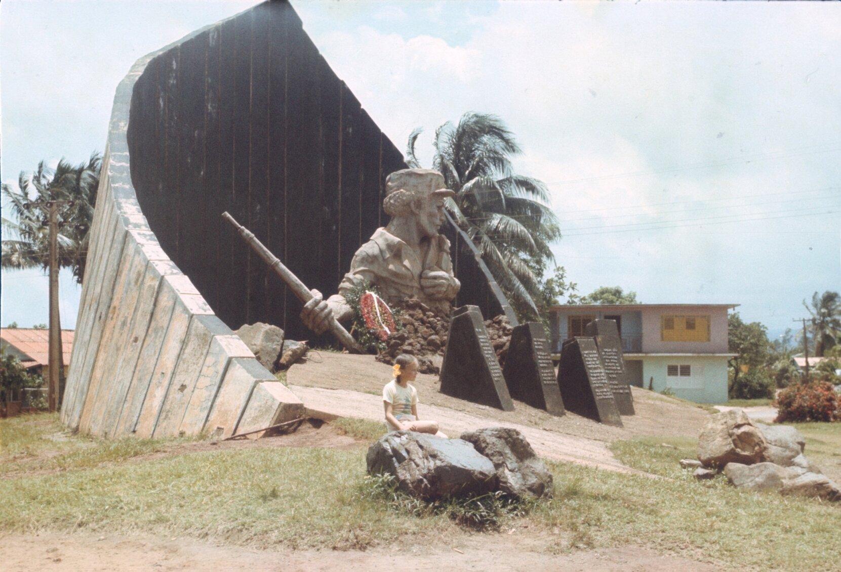 1985-1988. Памятник Педро Сотто Альба