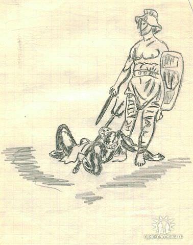 Лист 26. Пробный рисунок, вроде, Ольги Гуриной.