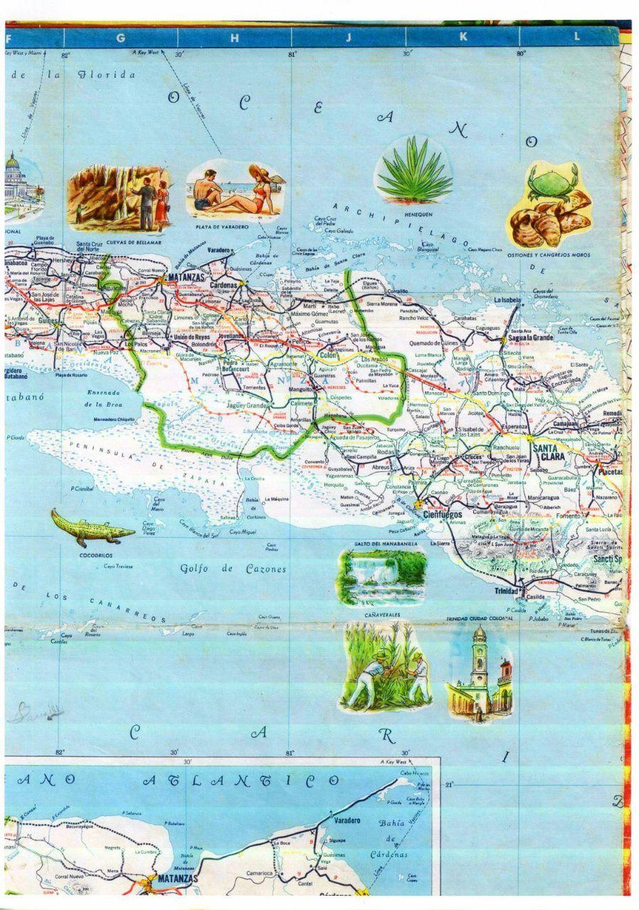 296. 1956. Карта Кубы и Гаваны. 2 лист, 2 фрагмент